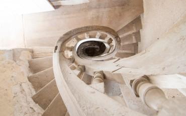 l'escalier henri 2 de la Closerie de Chambord