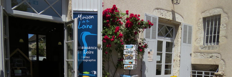 La maison de la Loire à quelques mètres du gite de groupe