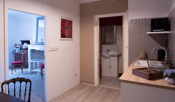 vue d'ensemble de l'appartement indépendant du gite de groupe