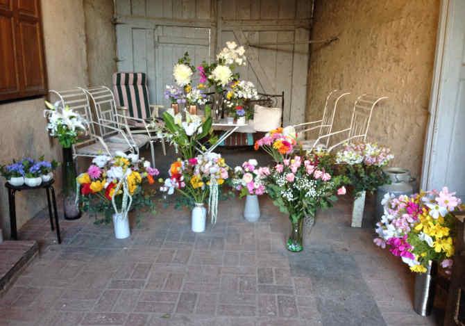 la décoration des chambres avec des fleurs